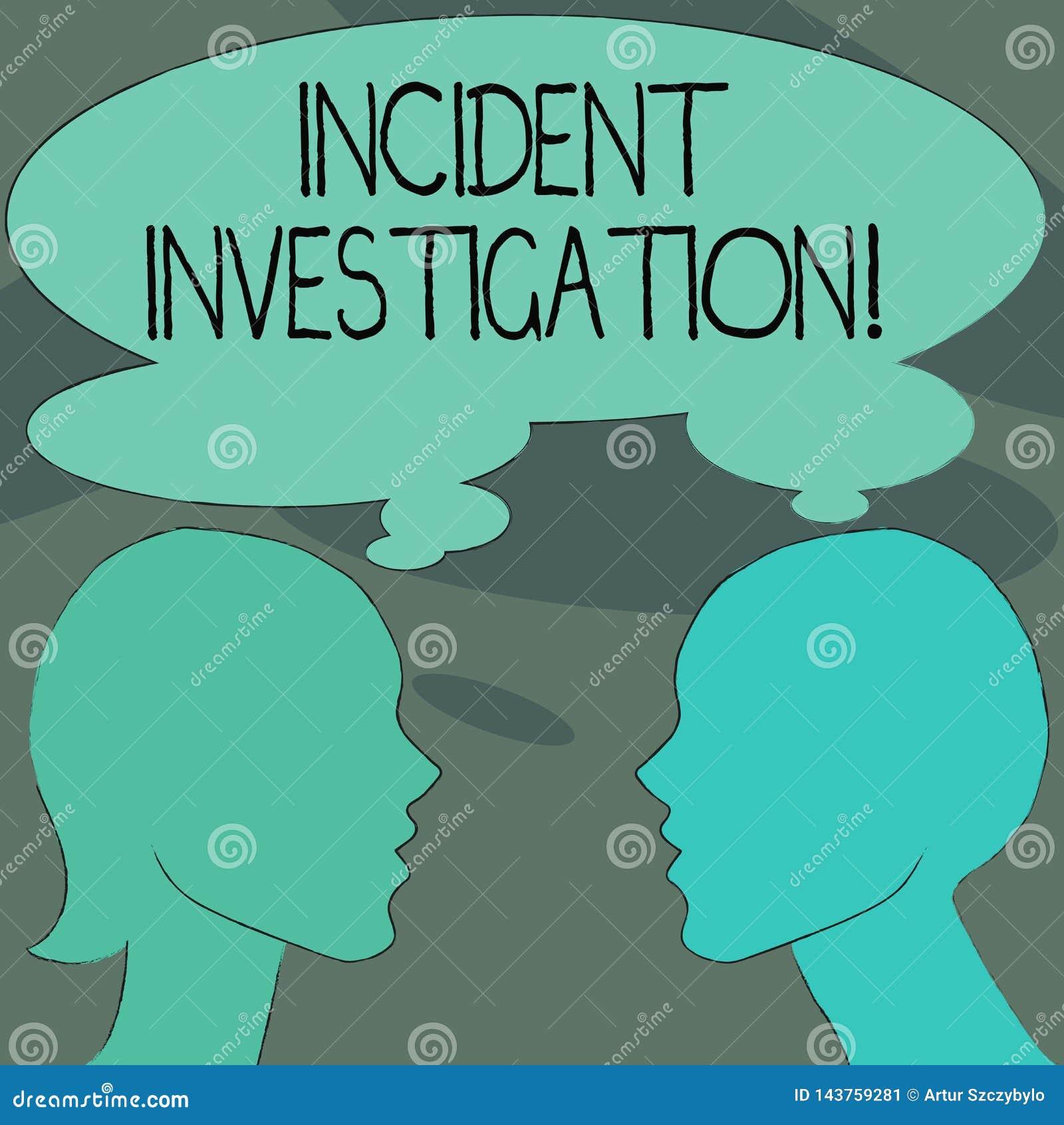 Infallande utredning för handskrifttext Begreppsbetydelsekonto och analys av en händelse som baseras på tecken