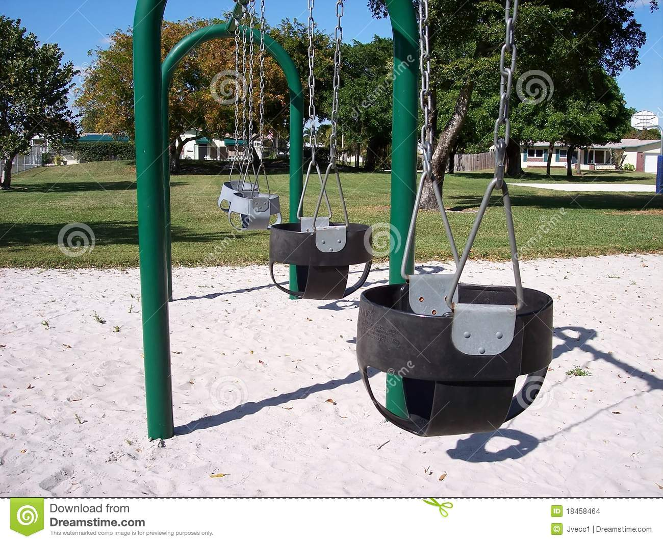 Infant Baby Swings Park Stock Images Image 18458464