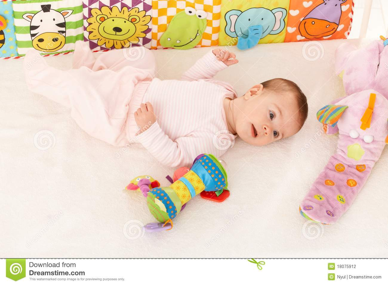 Toddler Toys Photography : Infant with baby toys stock photo image of children