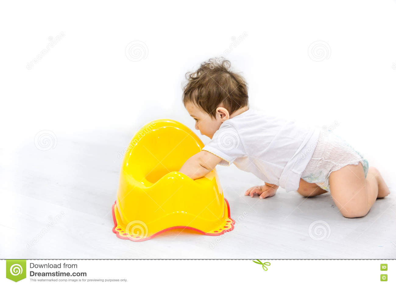 Infant Child Baby Boy Toddler Sitting Potty Toilet