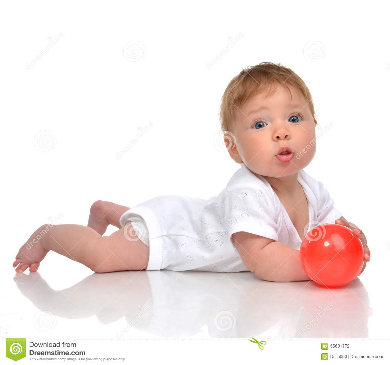 Floor Plans Free Infant Child Baby Boy Toddler Playing With Red Ball Toy In