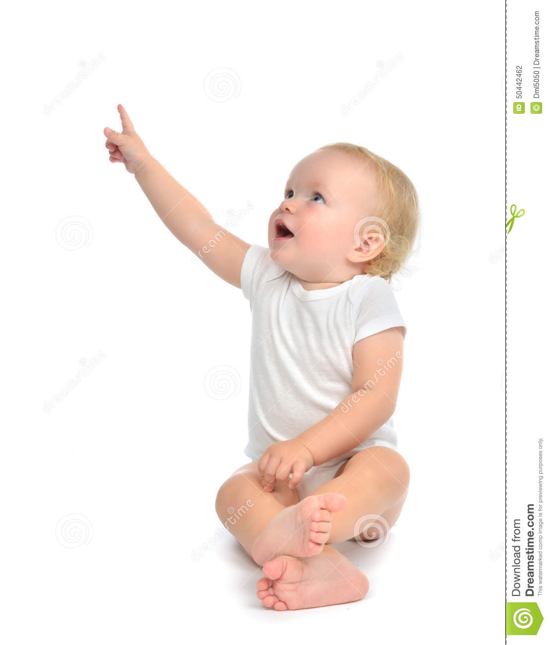 Infant Child Baby Toddler Sitting Raise Hand Up Pointing ... Cute Baby Pointing Finger