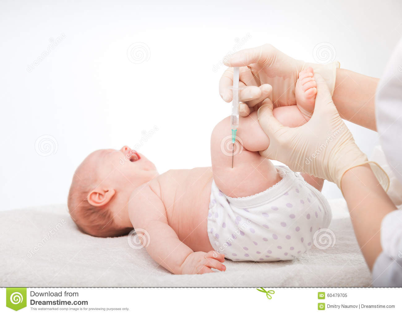 Infant gets an injection stock image  Image of needle - 60479705