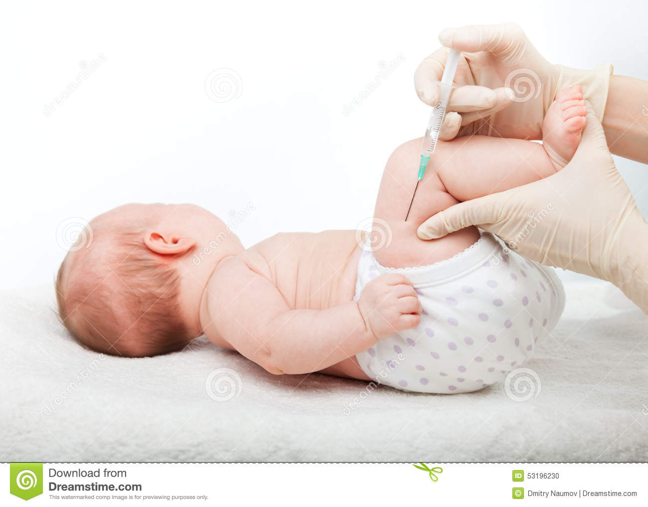 Infant Gets An Injection Stock Photo - Image: 53196230