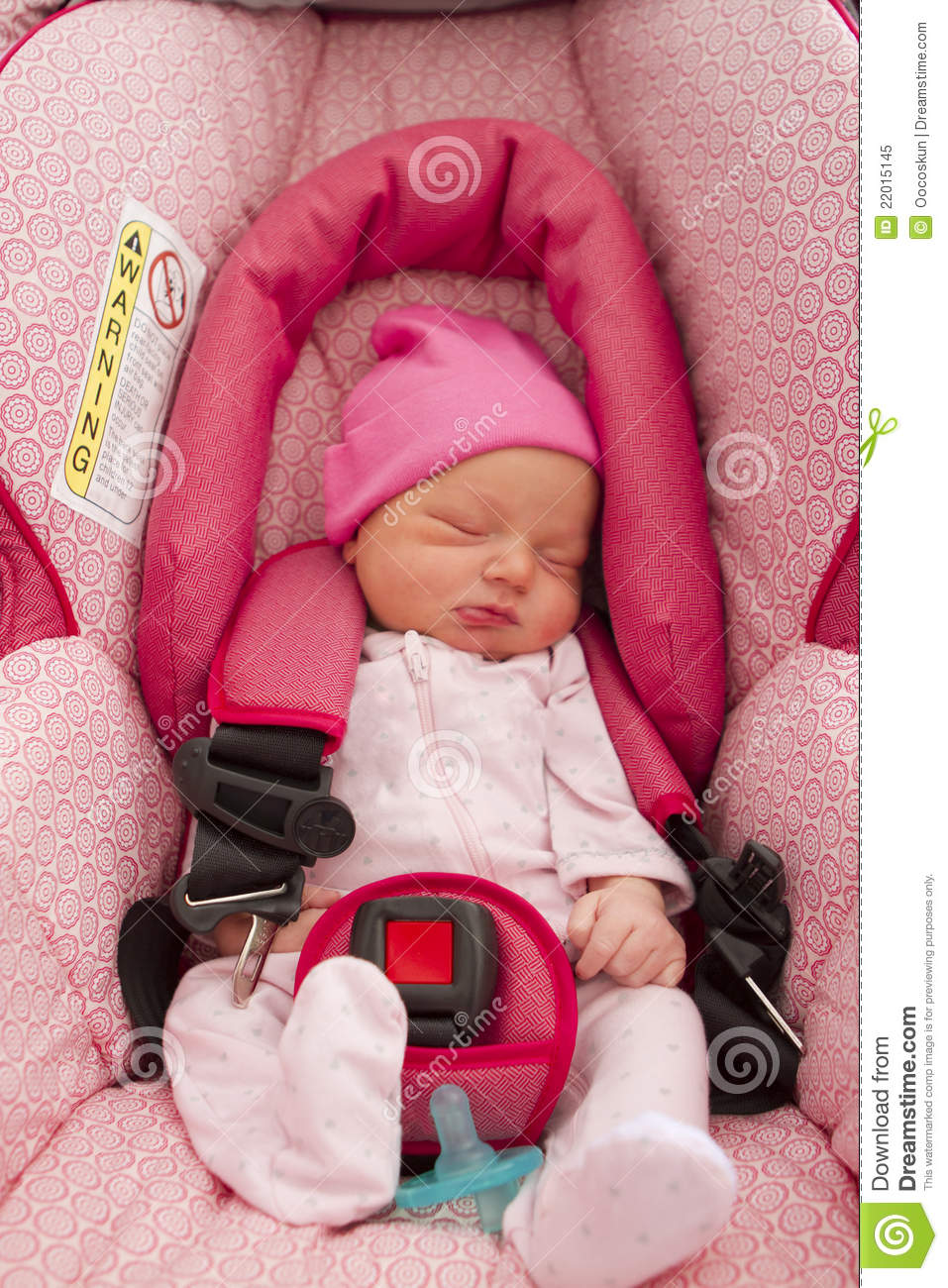 Infant In Her Car Seat Royalty Free Stock Photo Image