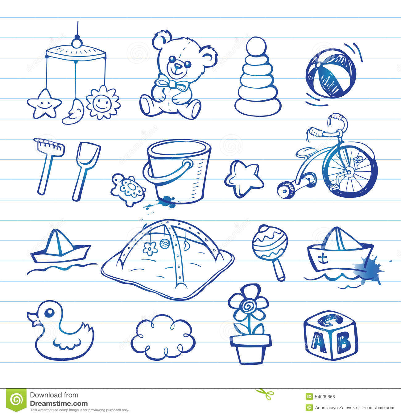 Infant Icon Set Stock Vector Image 54039866