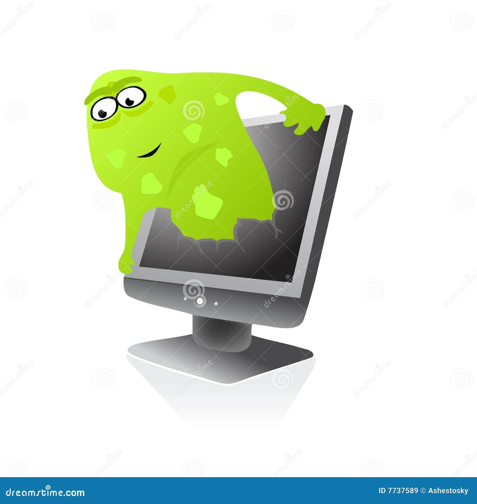 Viral Times Web: Infection De Virus De Web D'ordinateur Illustration De