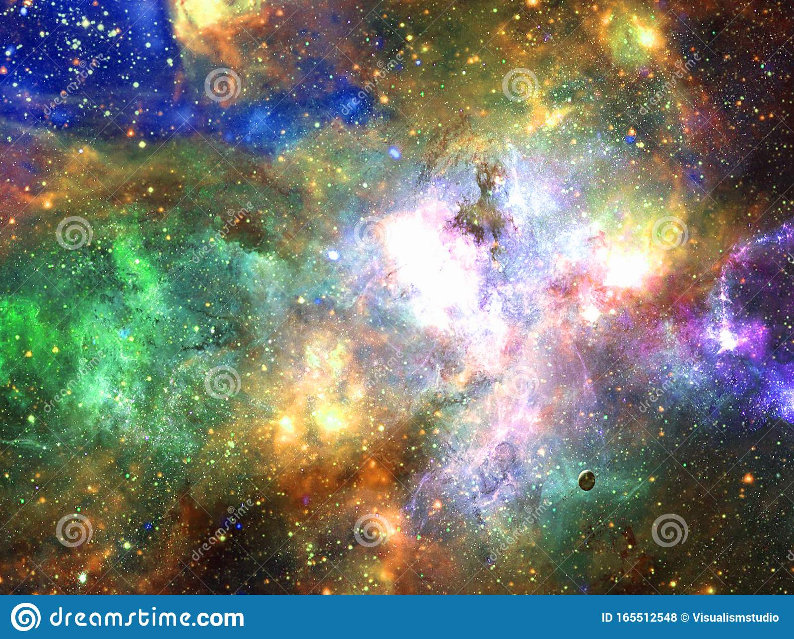 infinite beautiful cosmos rainbow background nebula cluster stars outer space beauty endless universe filled cosmic art 165512548