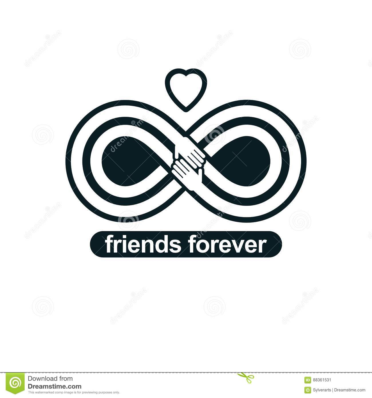 Infinite friendship friends forever special vector logo combin infinite friendship friends forever special vector logo combin concept graphic biocorpaavc Gallery