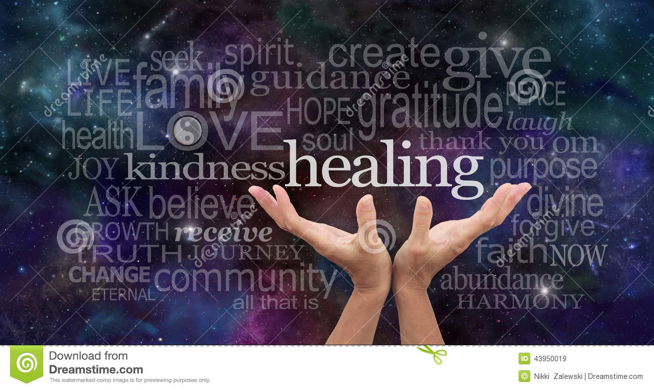 infinite healing words stock photo image 43950019 open hands clipart open hands clip art right and left