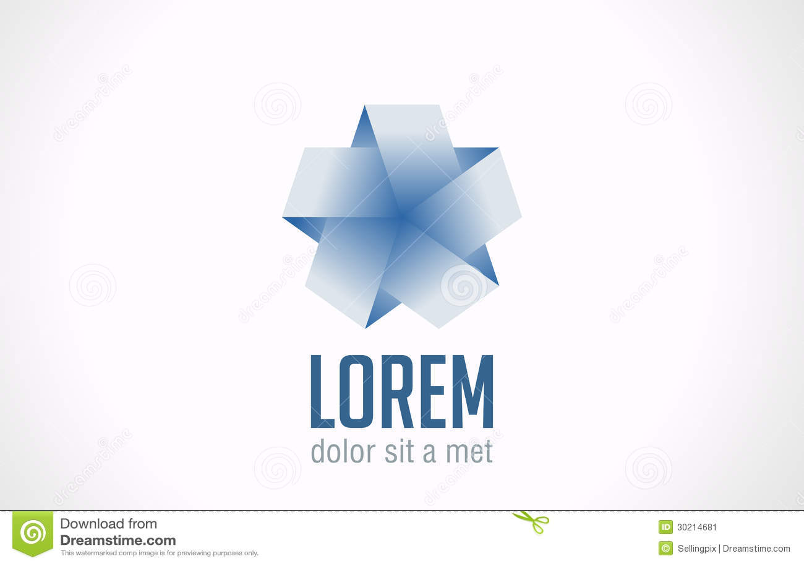 Logo Infinite Loop Star Ribbon Abstract. Vector Ic Stock Image - Image ...