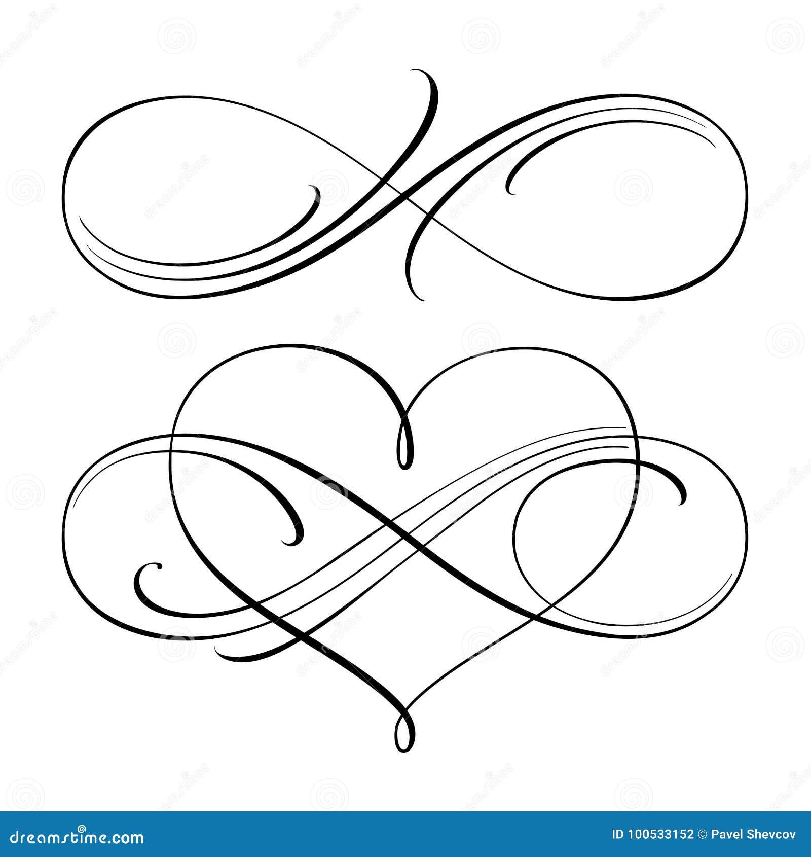 Infinite Love Symbols Stock Vector Illustration Of Part 100533152