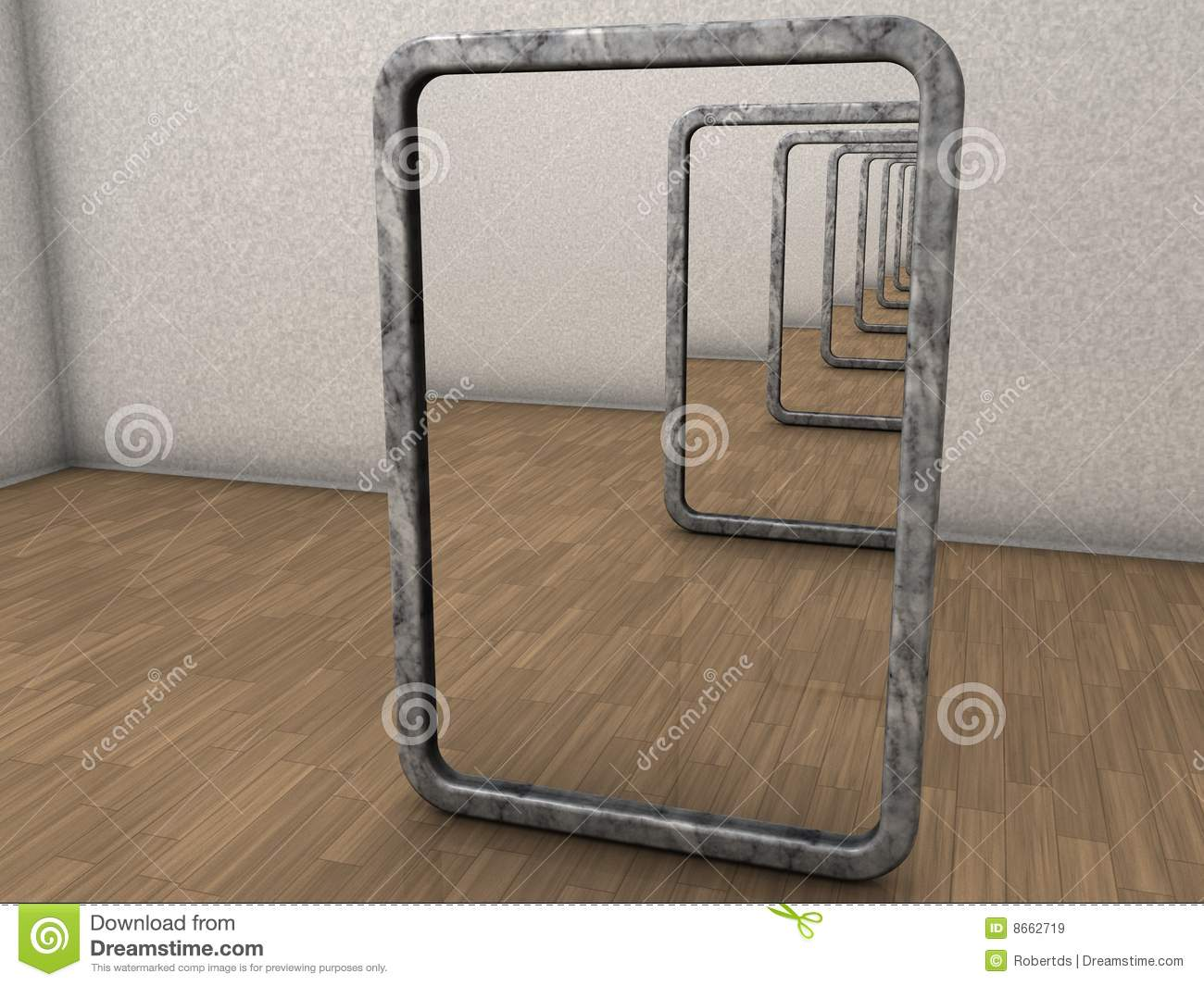 Infinite Mirrors Stock Illustration Image Of Infinitive
