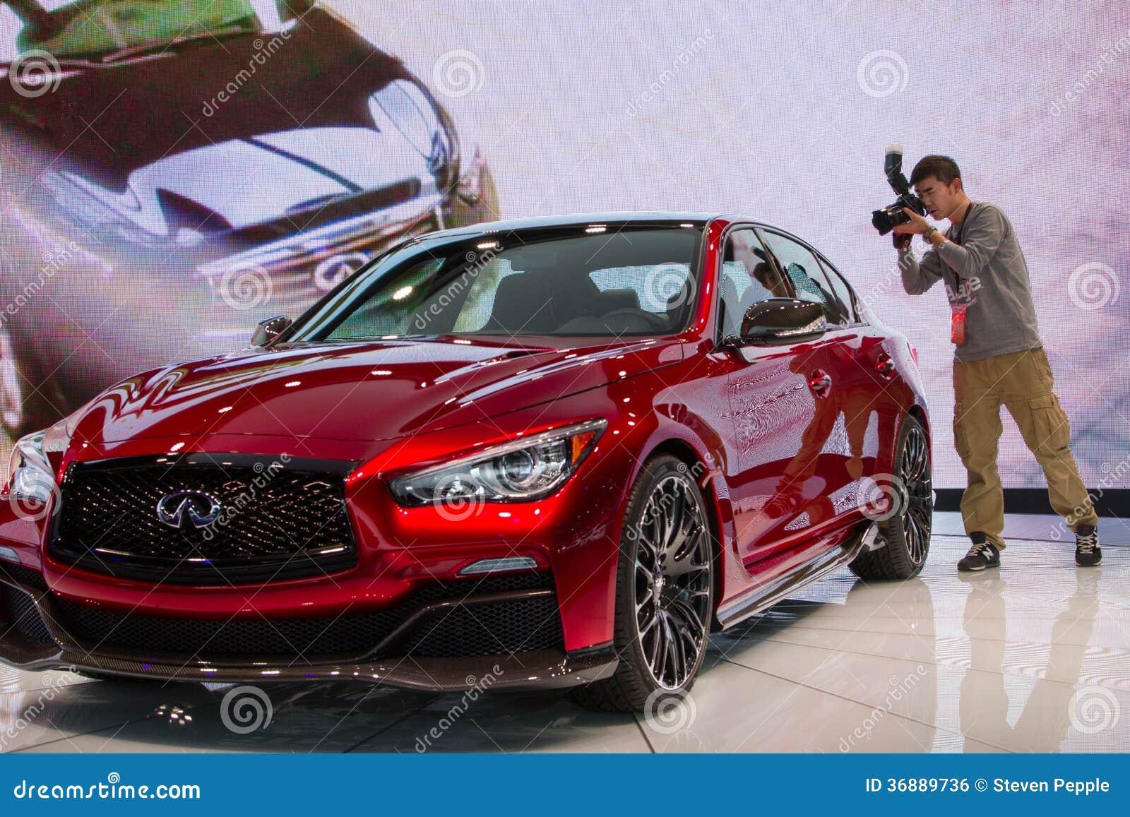 Luxury Vehicle: Infinite Q50 Eau Rouge Concept Car Editorial Photo