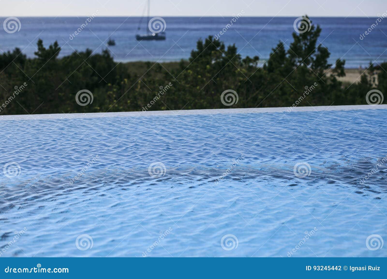 Infinite swimming pool stock photo. Image of beauty, healthy - 93245442