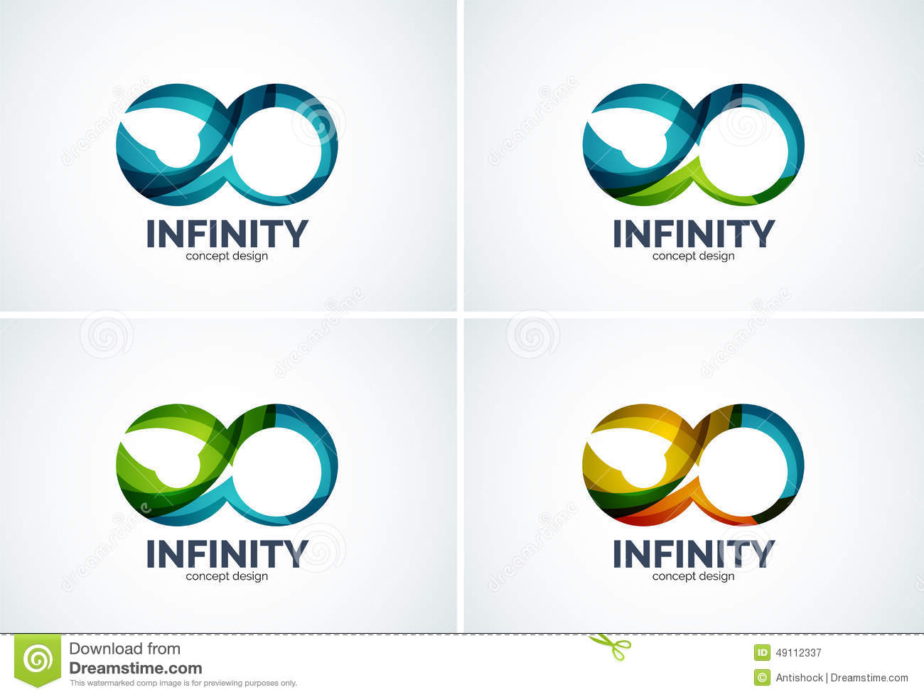 infinity company logo icon set stock vector image 49112337