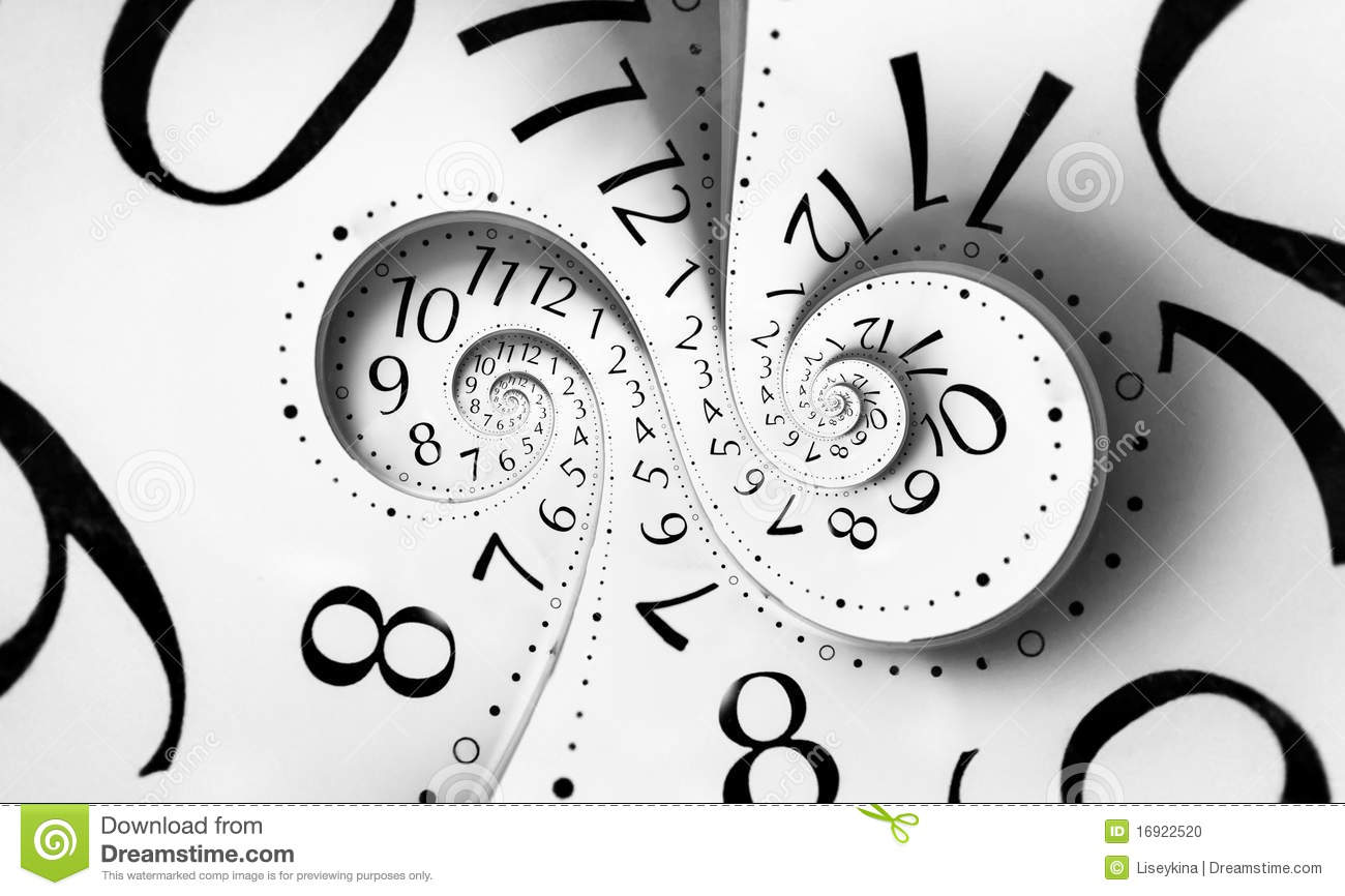 Infinity Double Time Spiral Stock Photo Image 16922520