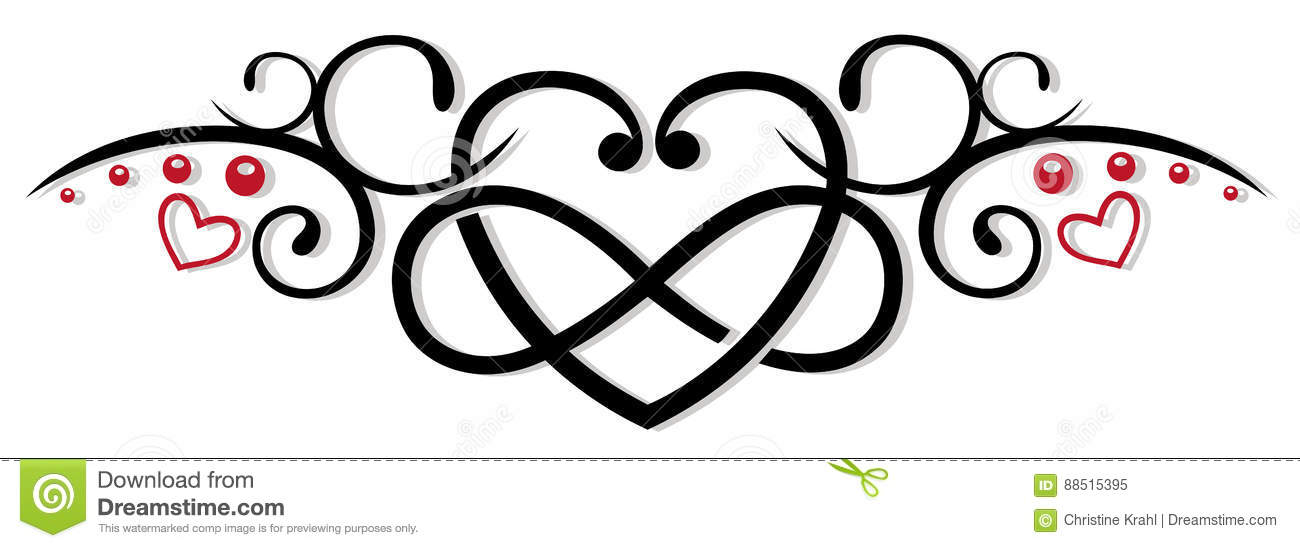 Infinity Heart Love Stock Illustration Illustration Of Black