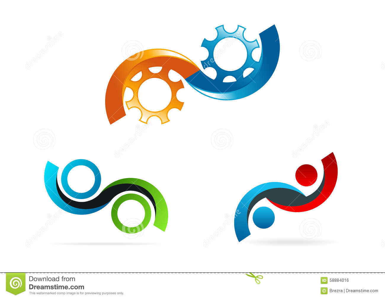 Infinity Logo Circle Gear Symbol Service Consulting