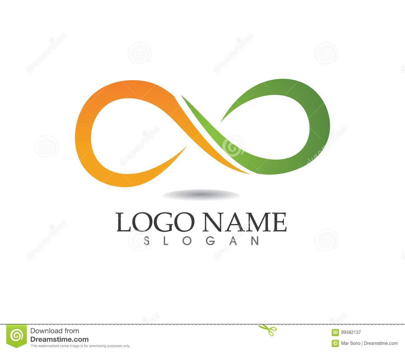 Infinity Logo And Symbol Template Stock Vector Illustration Of