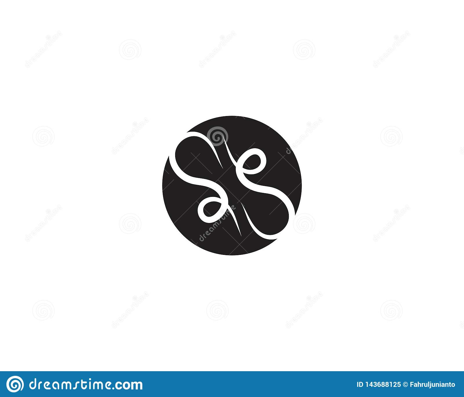 Business Infinty Icon Logo Design Template Stock Vector