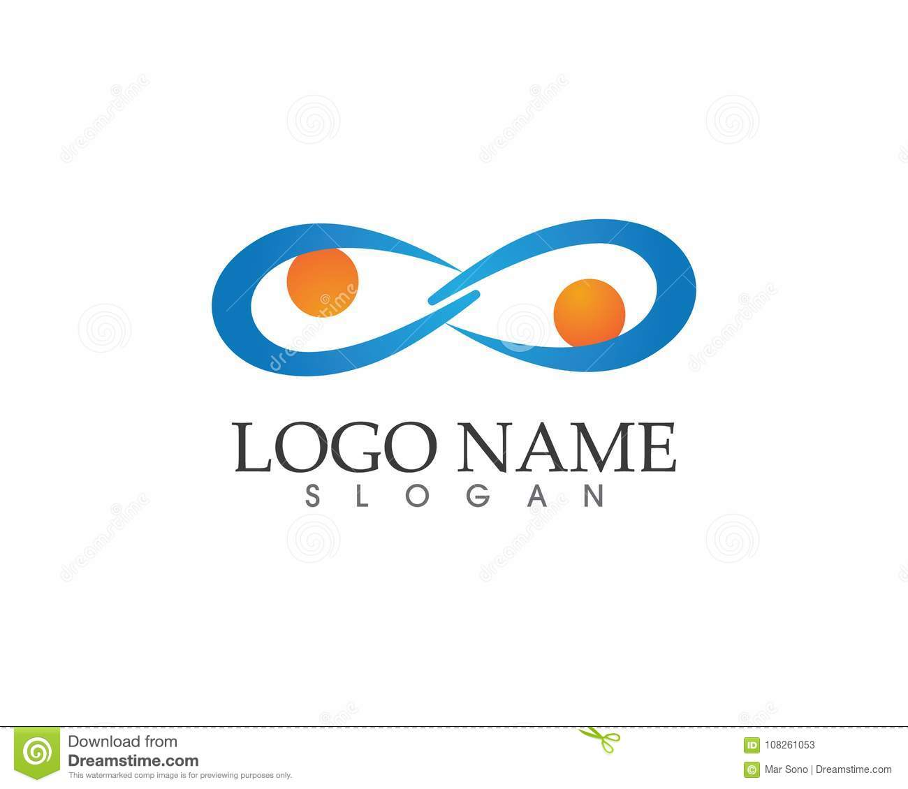 Infinity Eye Logo And Symbol Template Icons App Stock Vector