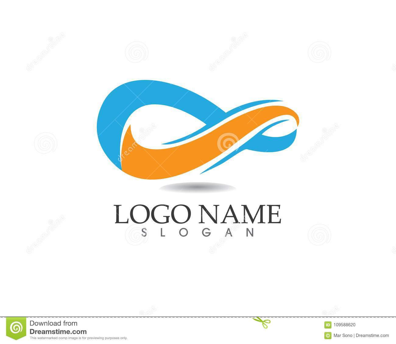 Infinity Logo And Symbol Template Icons App Stock Vector