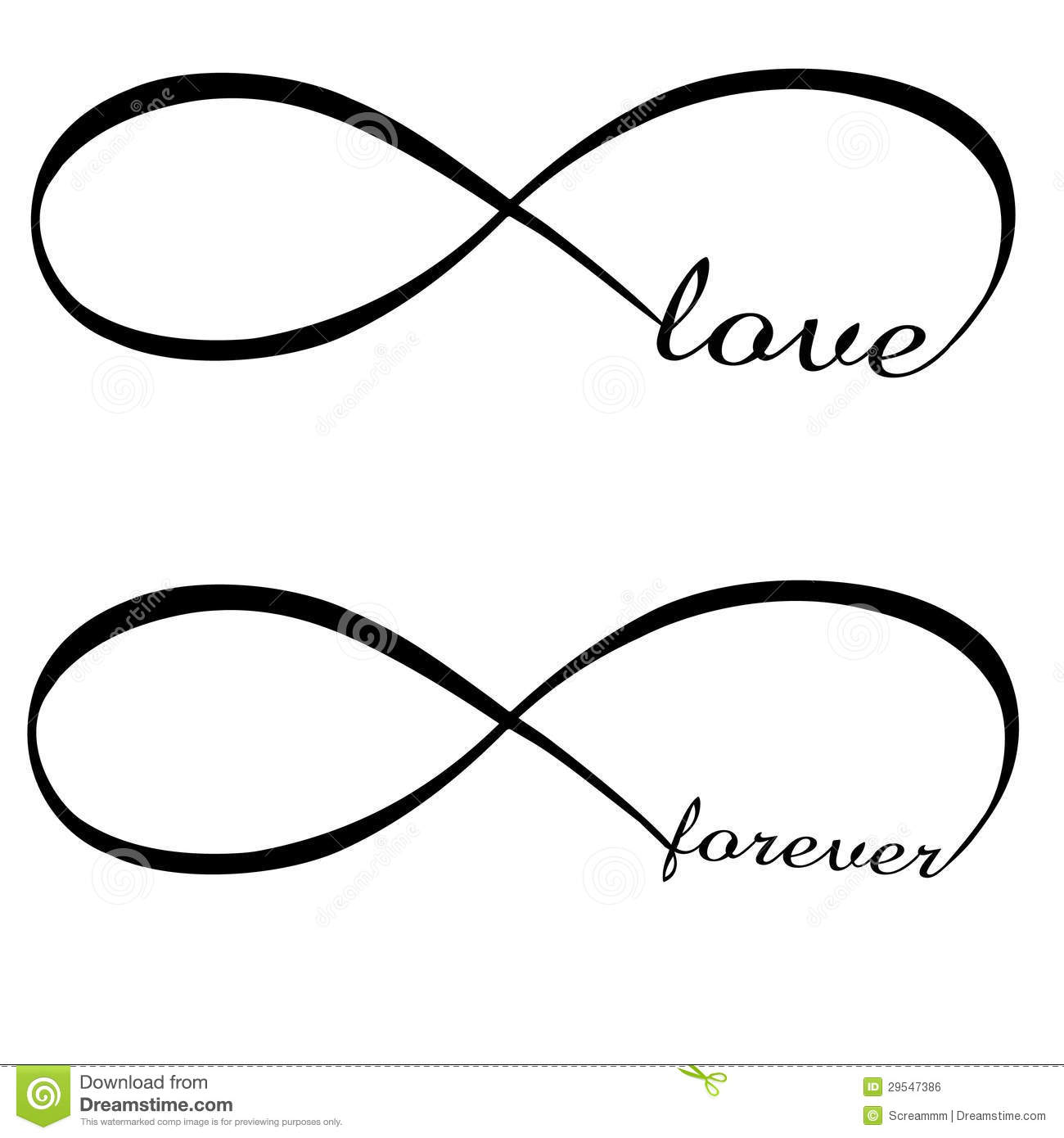 Infinity Love And Forever Symbol Stock Vector Illustration Of