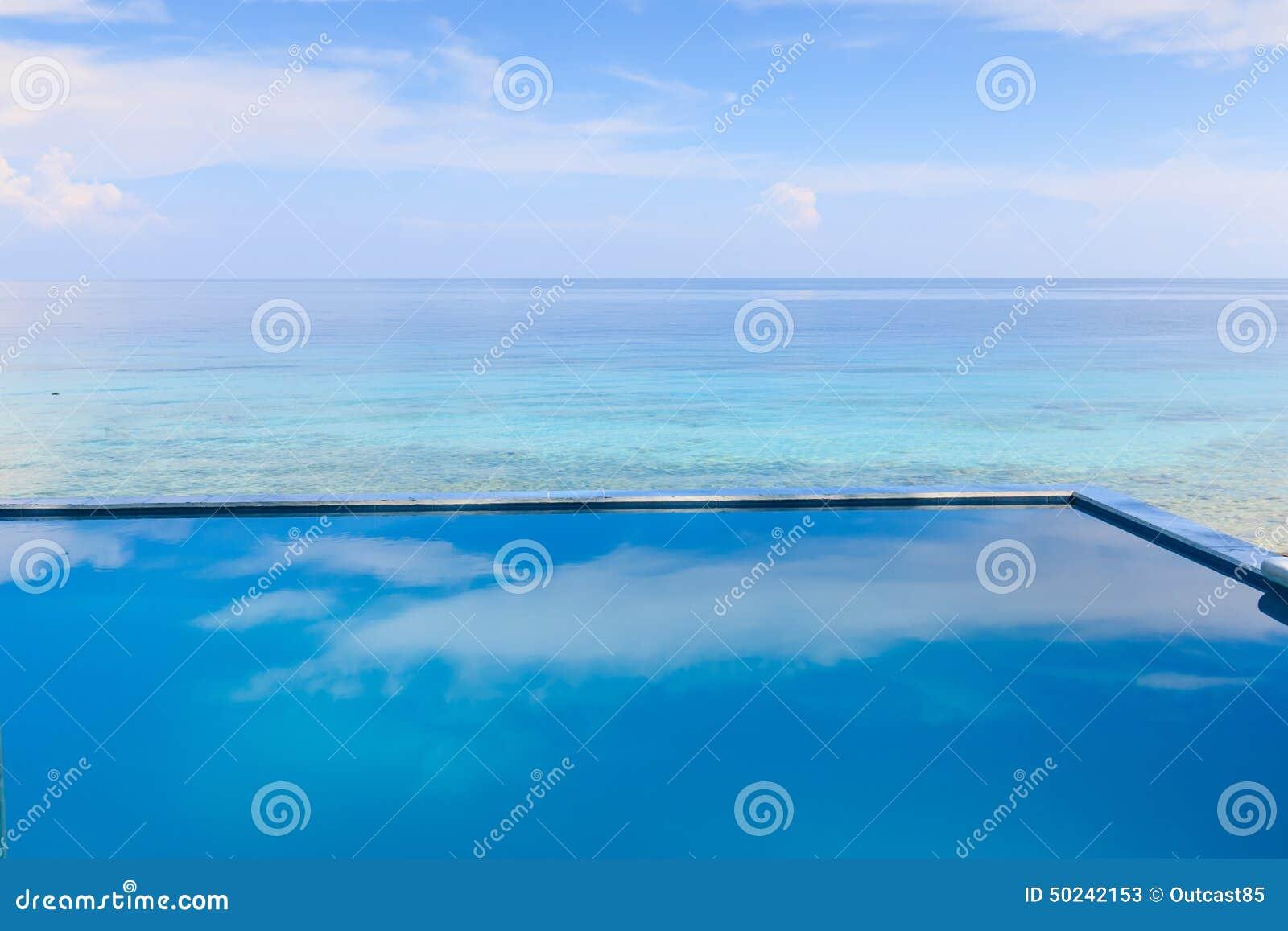 Infinity Pool Overlooking The Sea Stock Image