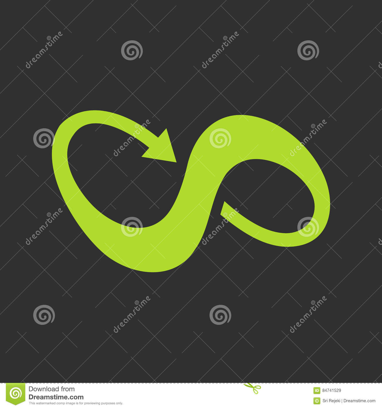 Infinity Symbol With Arrow Stock Vector Illustration Of Background 84741529 Animated, back to top, scroll down, simple and for boxes. infinity symbol with arrow stock vector illustration of background 84741529