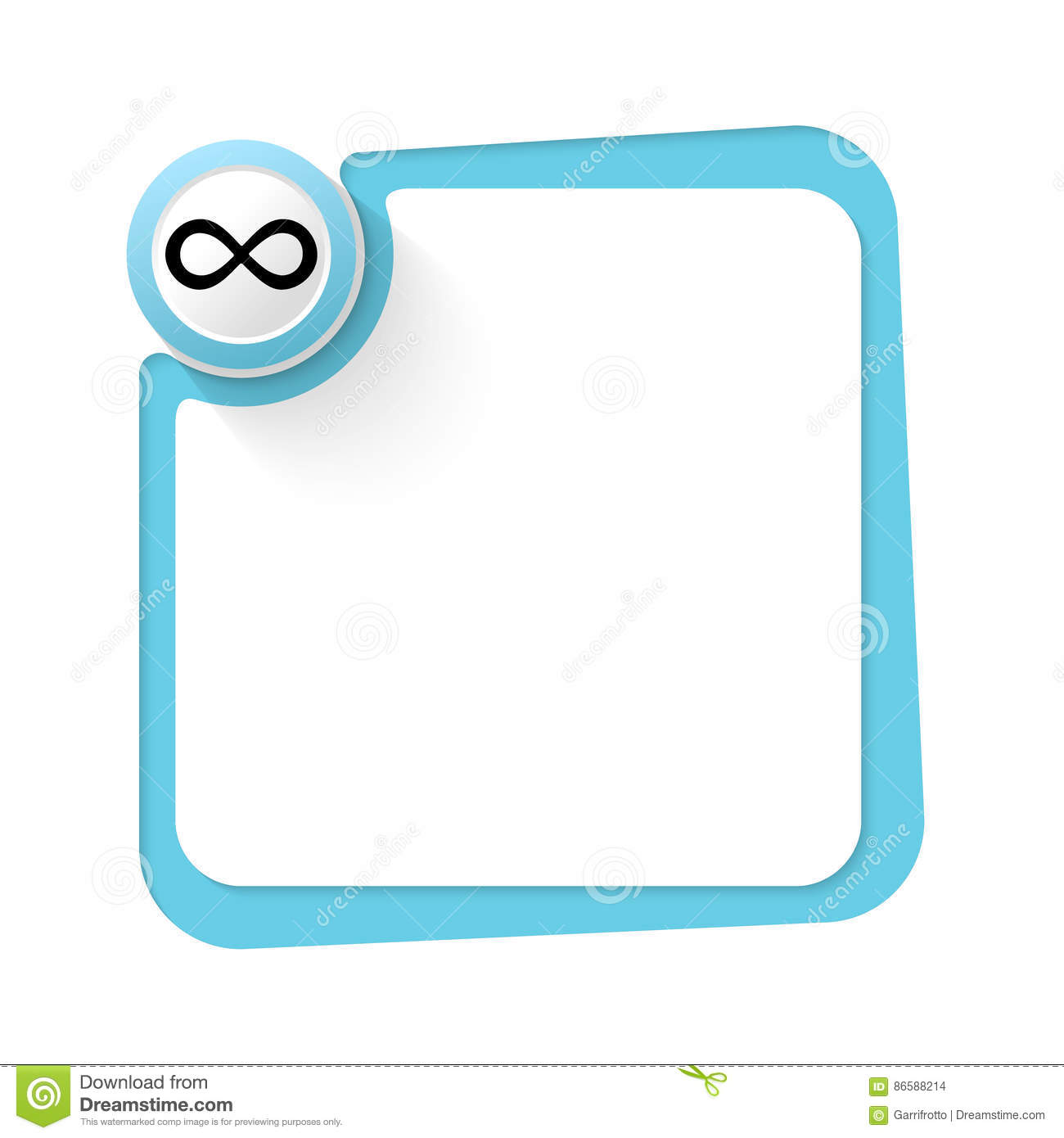 Infinity Symbol Stock Vector Illustration Of Formula 86588214