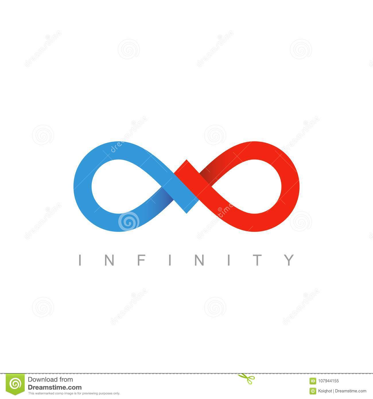 Infinity Symbol Business Communication Concept Stock Vector