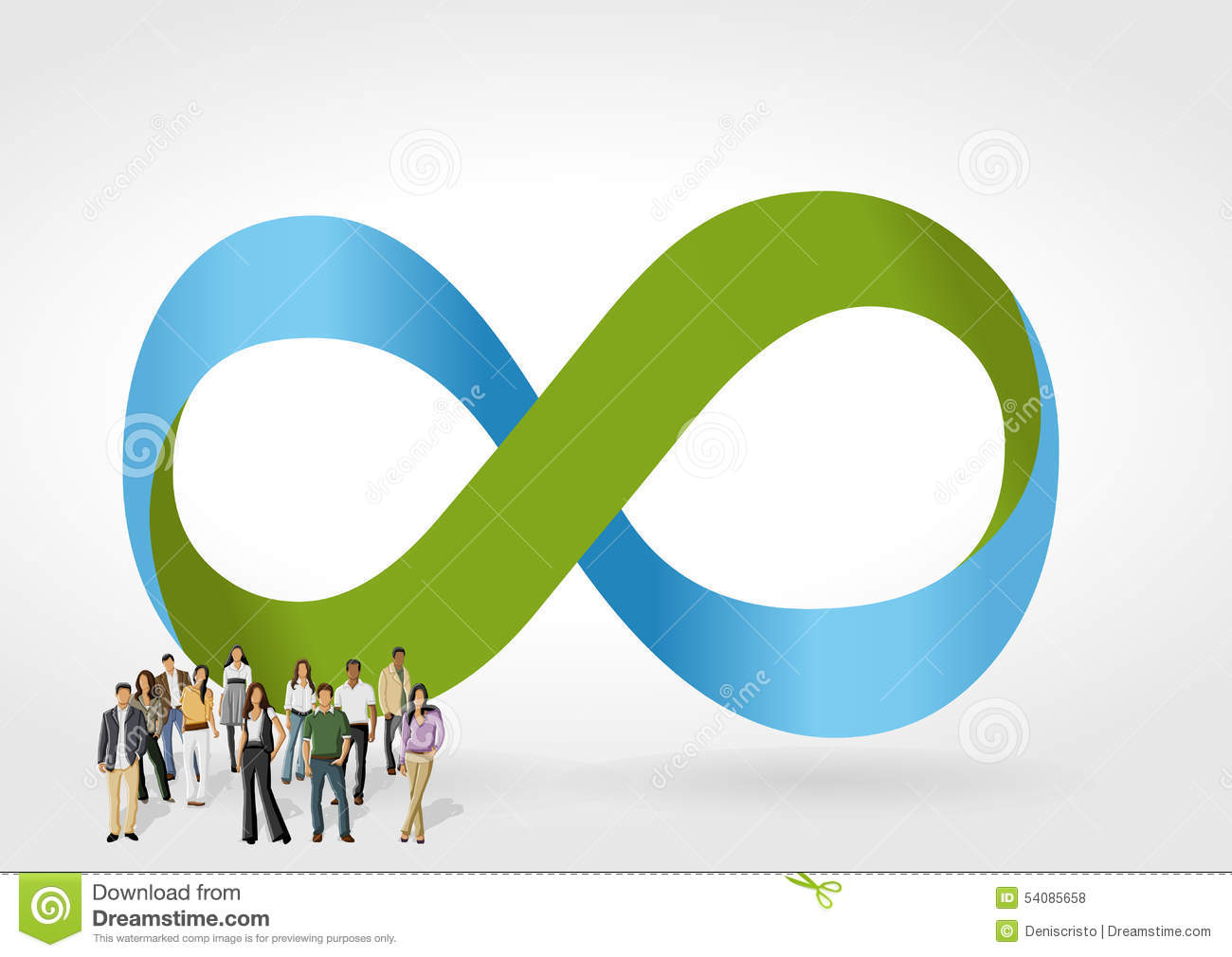 Infinity Symbol With Business People Stock Vector Illustration Of