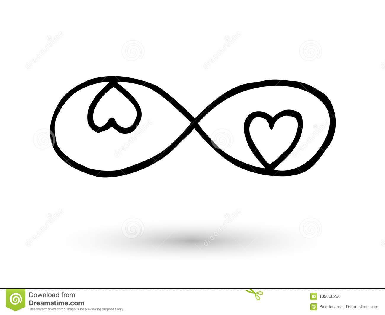 Infinity symbol hand drawn with ink brush stock vector infinity symbol hand drawn with ink brush buycottarizona Gallery