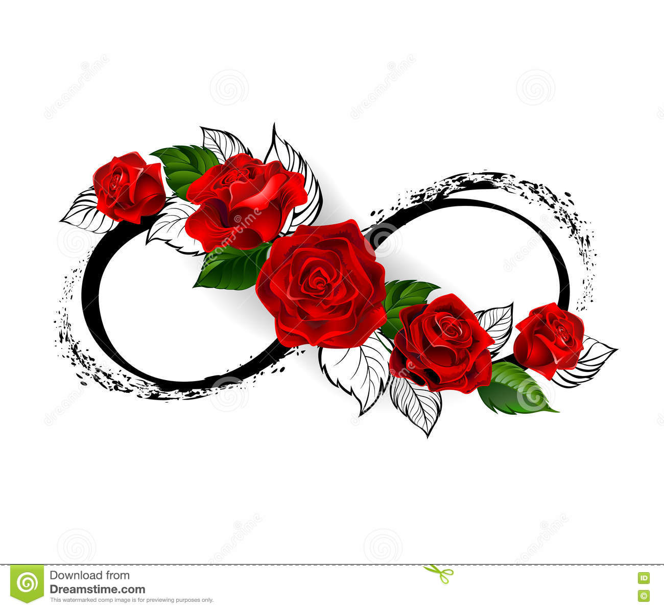 infinity symbol with red roses stock vector illustration of forever faith 73333733. Black Bedroom Furniture Sets. Home Design Ideas