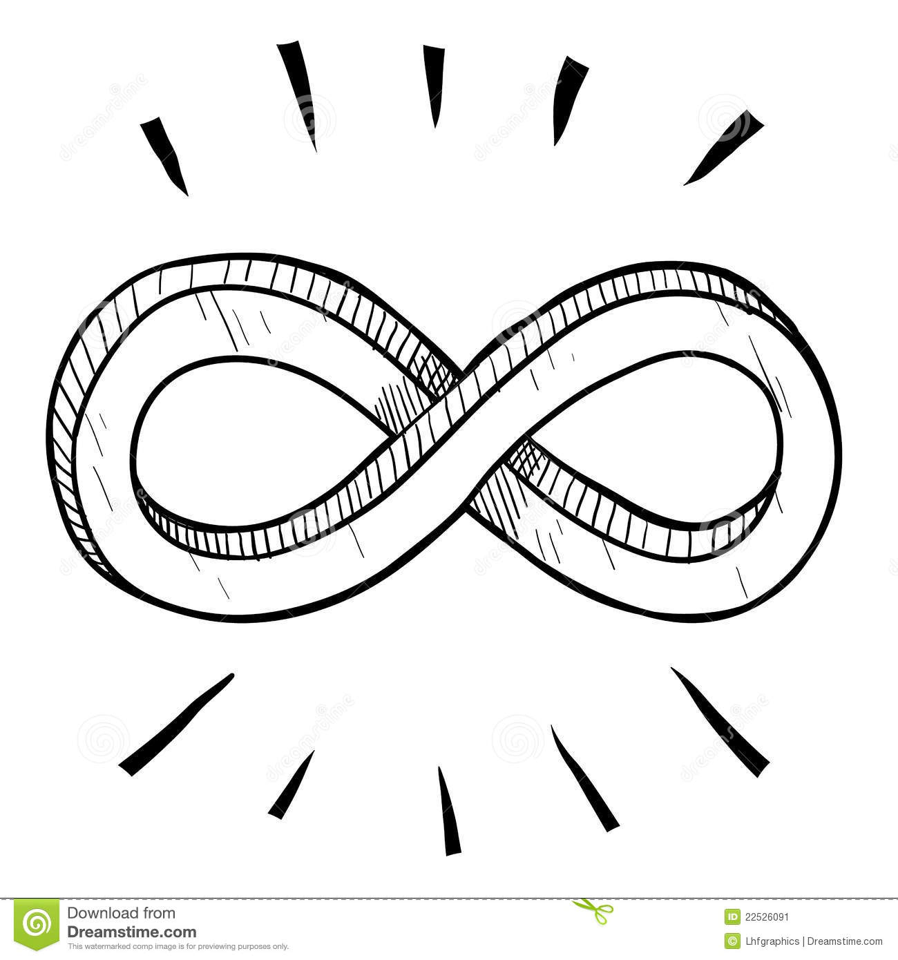 Infinity symbol sketch stock vector illustration of endless infinity symbol sketch buycottarizona