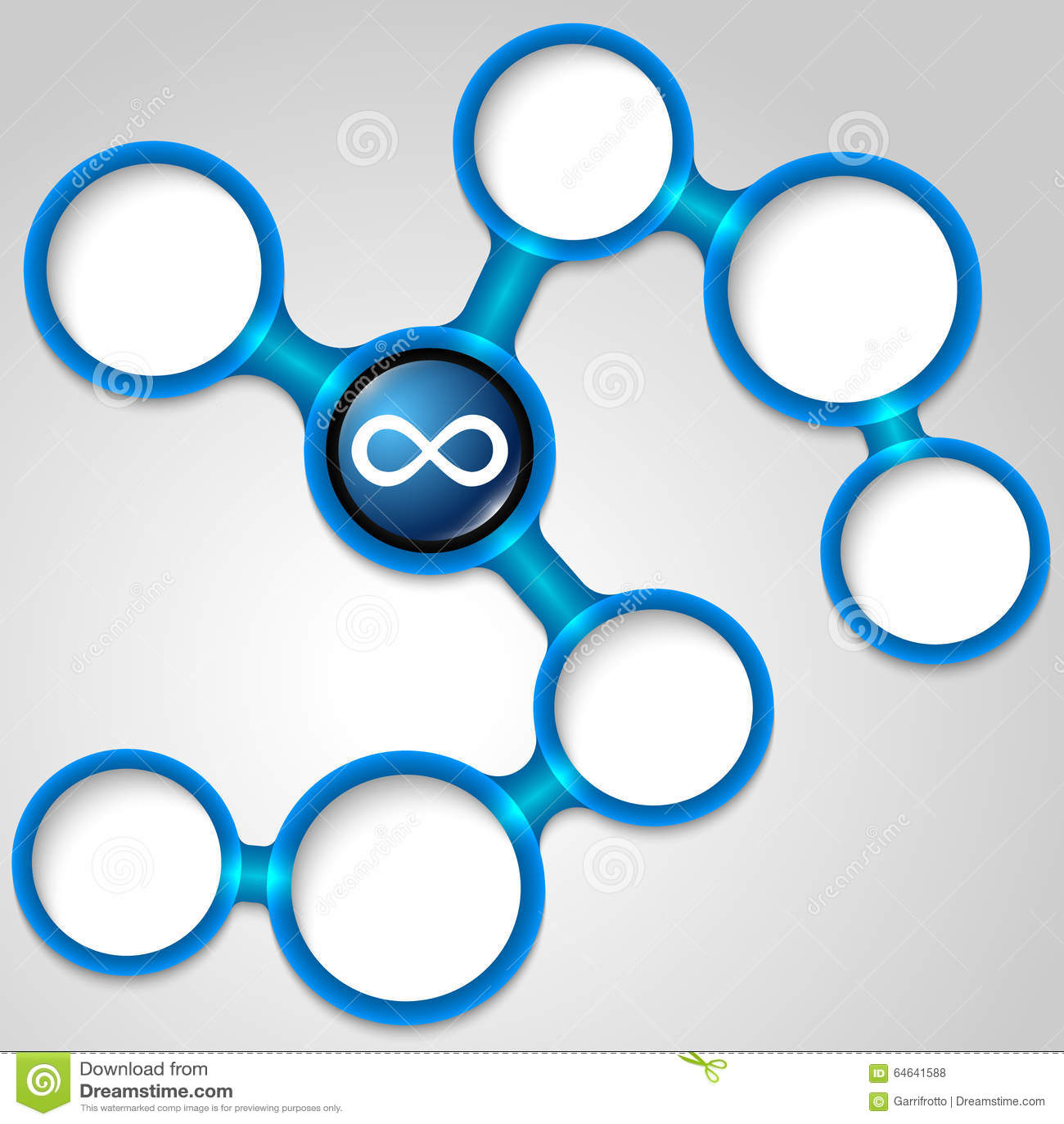 Infinity symbol stock vector. Illustration of frame, infinity - 64641588