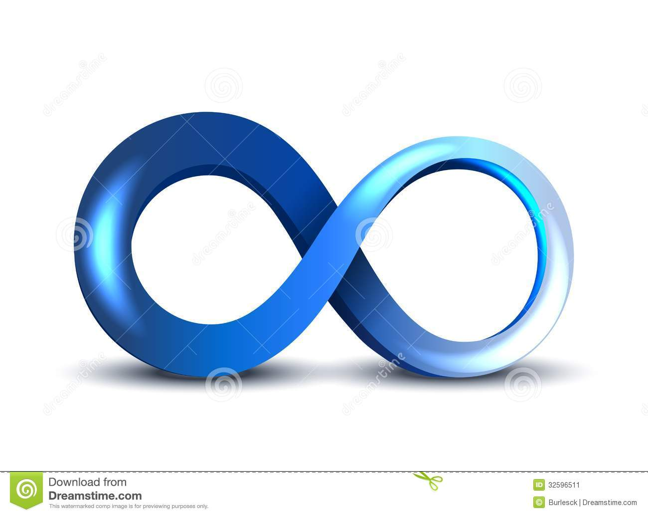 Infinity Symbol Stock Vector Illustration Of Sign Future 32596511