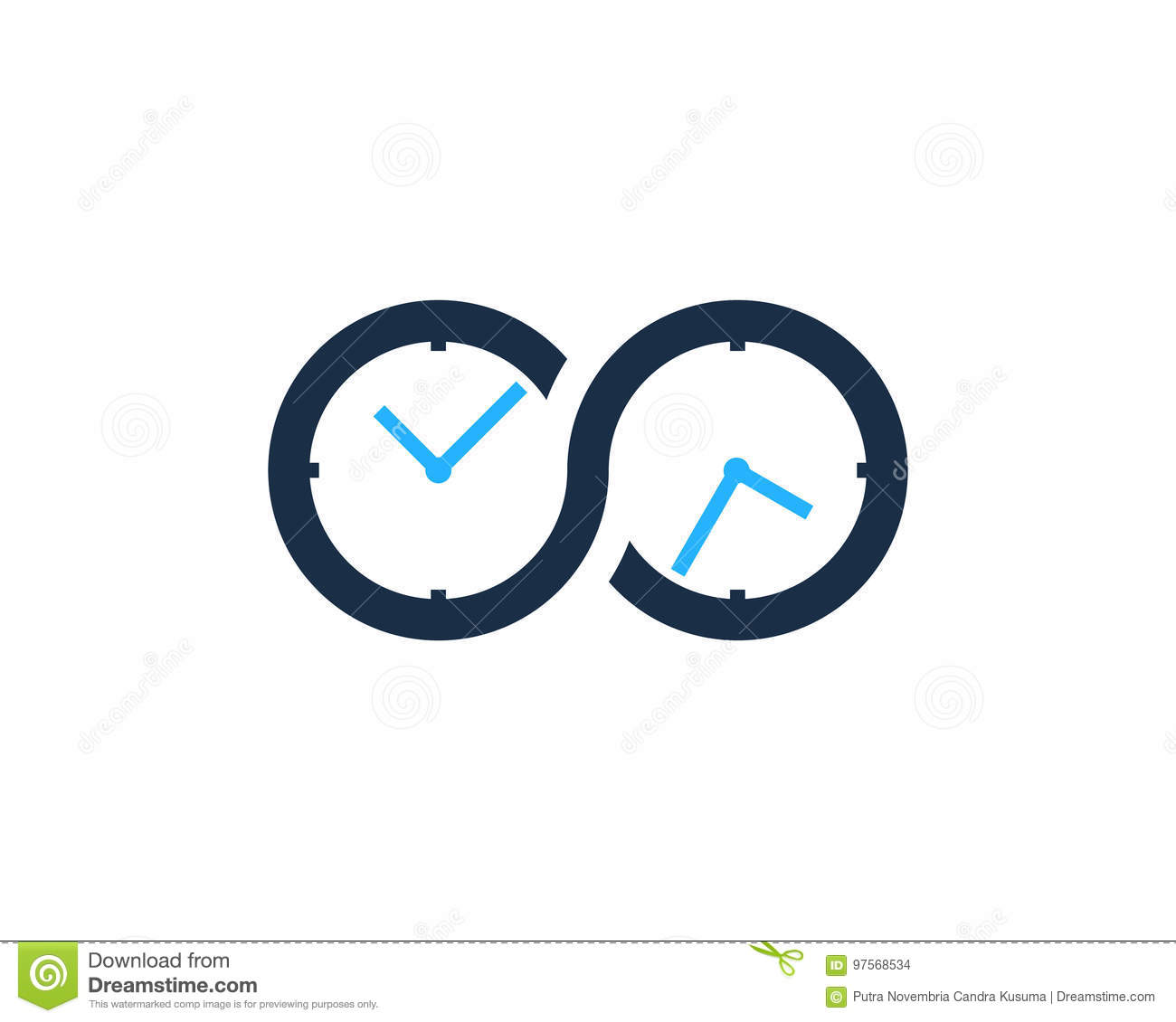 Infinity Time Icon Logo Design Element Stock Vector Illustration