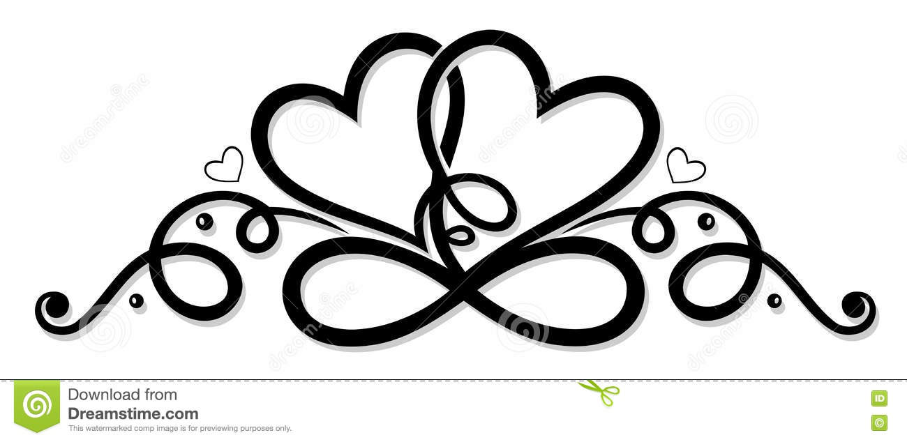 infinity with two hearts stock vector illustration of Heart Beat Clip Art Free Art Clip Hearts