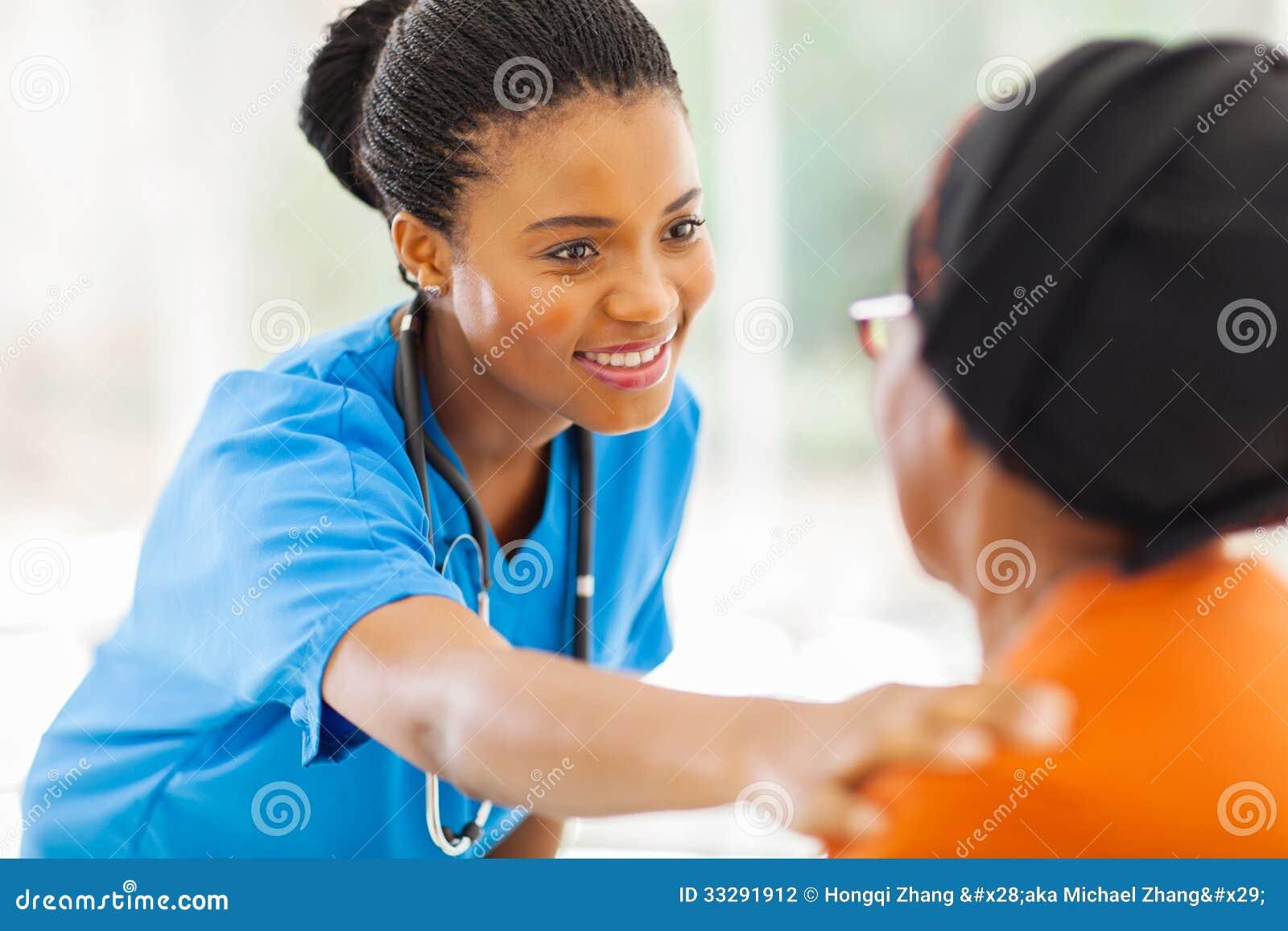 Infirmière médicale africaine