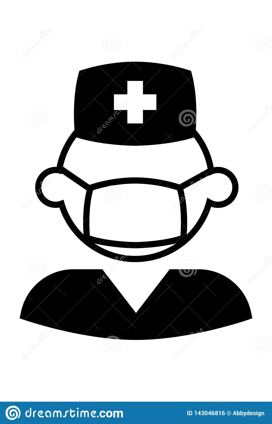 Infirmière masculine Icon Vector