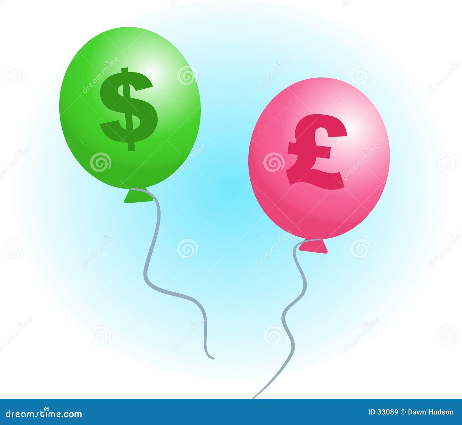 Download Inflación stock de ilustración. Ilustración de globos, negocios - 33089