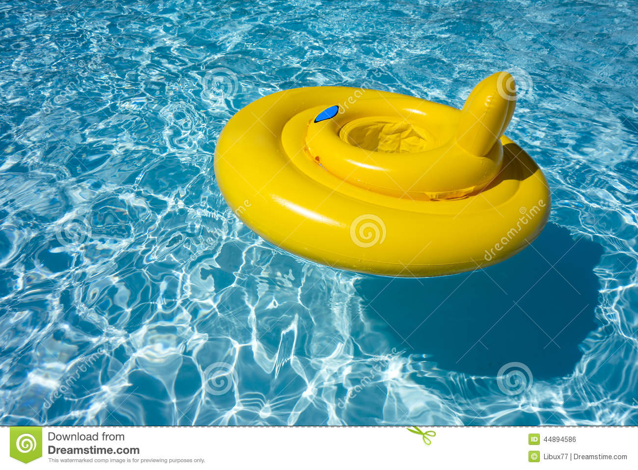 Inflatable Swimming Pool Float Tube Ring Baby Seat Stock Photo ...