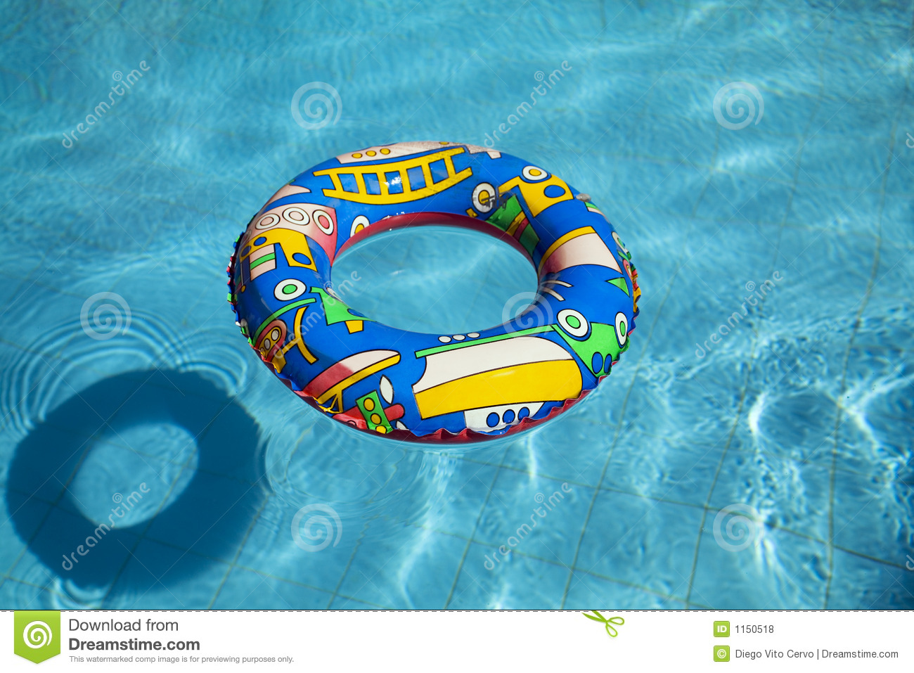 Inflatable Swimming Pool Inner Tube Stock Photo Image Of