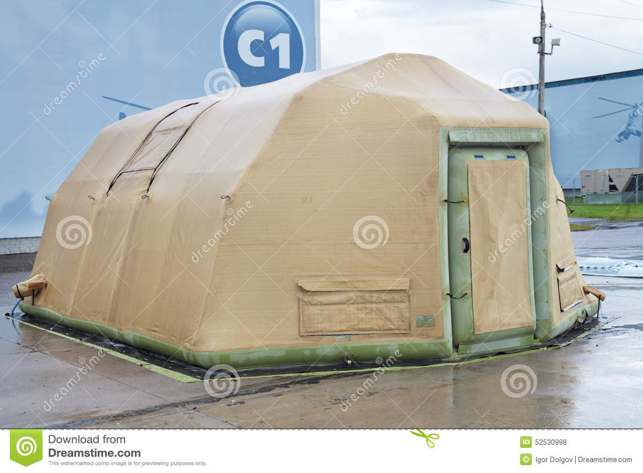 Inflatable tent & Inflatable tent editorial stock photo. Image of mobile - 52530998