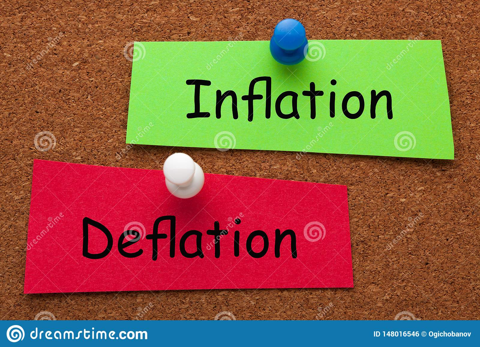 Inflation Deflation Concept