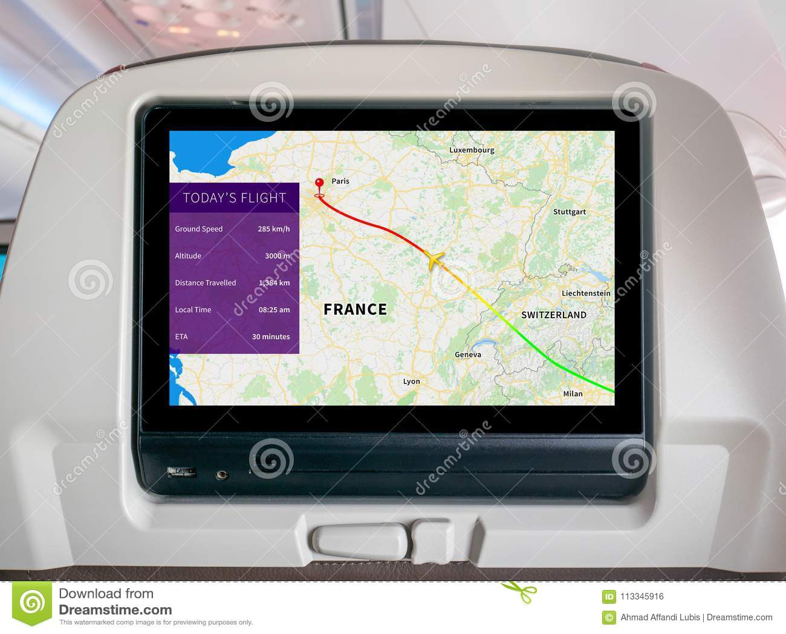 Inflight Progress Map Screen, In-Flight Map Screen, Flight Screen, Flight Tracker