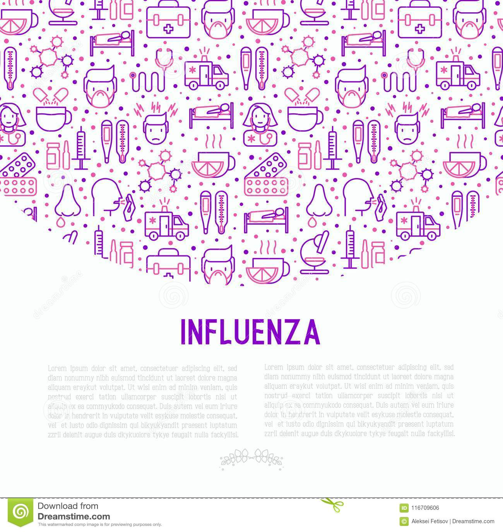 Influensabegrepp med den tunna linjen symboler