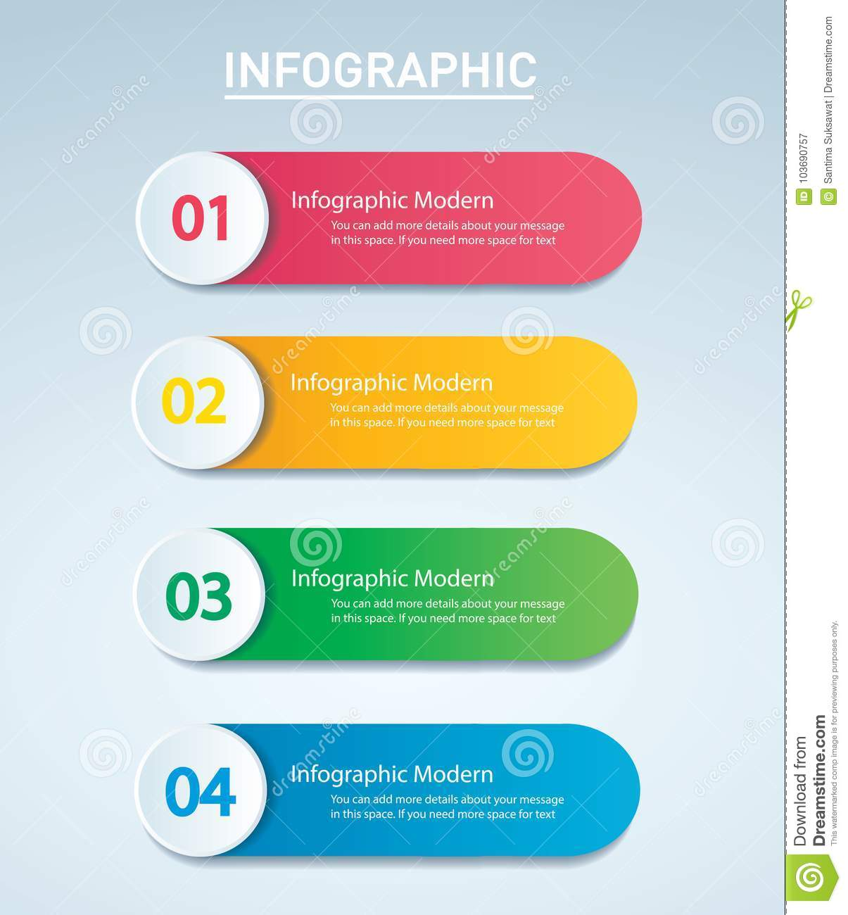 info graphic vector template with 4 options can be used for web